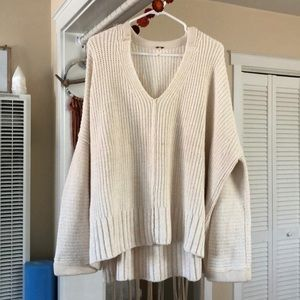 free people off white oversized sweater